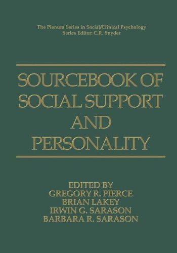 Sourcebook of Social Support and Personality (The Springer Series in Social Clinical Psychology)