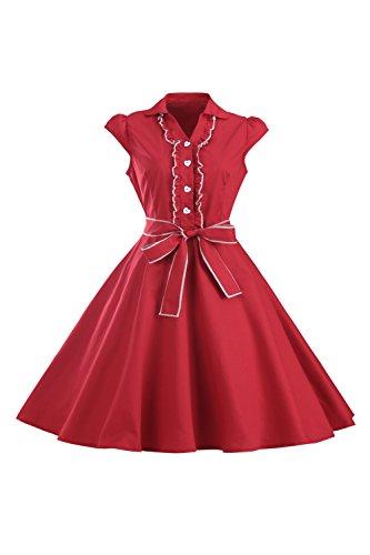 Frauen 1950er Jahre Überwurfhülse Swing Vintage-Kleid