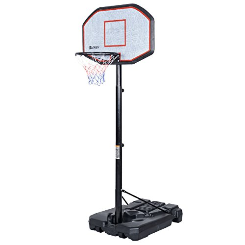 Big 42''x28'' Backboard in Outdoor 10' Adjustable Height Basketball Hoop System