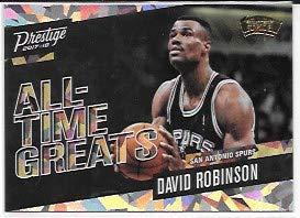 (David Robinson 2017-18 Prestige All Time Greats Crystal San Antonio Spurs Insert Card #13)