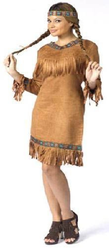 FunWorld Native American Adult, Brown, 10-14 Medium/Large