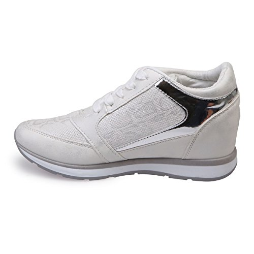 Basses Et Baskets Compensées Blanc La Modeuse 6x7EqnpT
