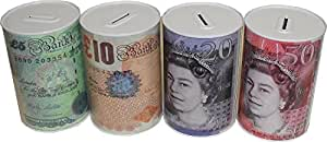 Notes Design Money Saving Tin by FANCY-IT