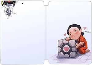 Pu soporte plegable del tirón del cuero cubierta de la caja Funda Folio para iPad Mini 4 Portal 2 62I2LX