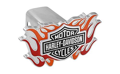 Harley-Davidson Trailer Hitch Cover Plug With 3D Decorative Emblem And Flames Harley Davidson 3d Emblem