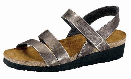 Naot Footwear Women's Kayla Sandal Metal Leather 37 M EU