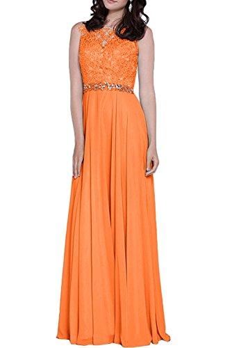 La Gruen Brautmutterkleider Abiballkleider Lemon Abendkleider Marie Braut Langes Orange Spitze Abschlussballkleider wOaZw6qr