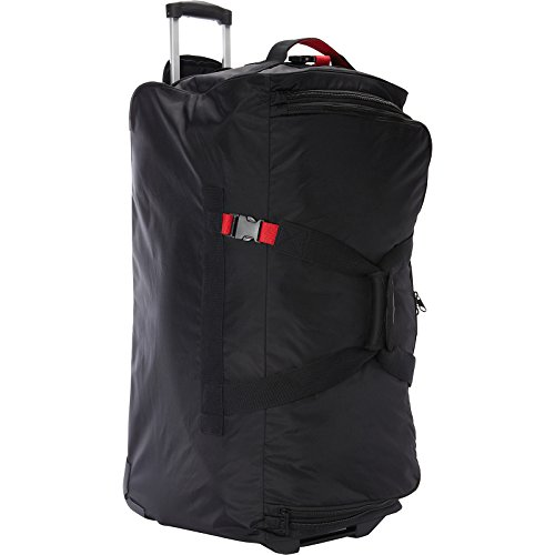 """A. Saks 31"""" Expandable Trolley Duffel (Black/Red)"""