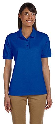 Ladies Classic Pique Polo (Gildan Ultra Cotton Ladies 6.5 oz. Piqué Polo, Medium, ROYAL)