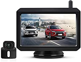 AUTO-VOX W 7 バックモニターセット ワイヤレスバックカメラ 信号安定 電磁波干渉防止 正像・鏡像切替対応