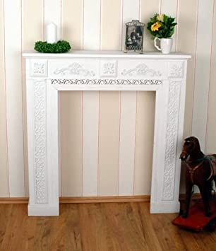 Romantische Kaminumrandung, Wandverzierung, Kaminrand, Kamin,  Kamindekoration Für Schöne Wohnambiente, Ideal Für