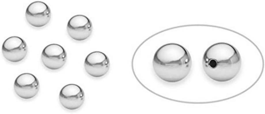 400 Silver Plated Round Metal Ball Spacer Beads 3mm