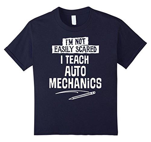 Auto Mechanic Halloween Costume (Kids Humorous Auto Mechanics Teacher T-Shirt for Women and Men 12 Navy)