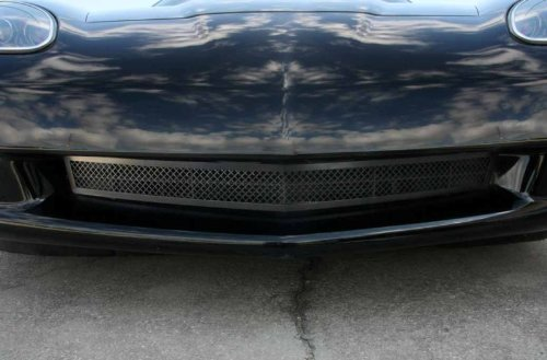 American Car Craft Chevrolet Corvette 2005 2006 2007 2008 2009 2010 2011 2012 2013 Black Mesh Grille Bumper Chrome Insert Air Dam Kit