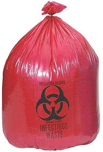 Biohazard Waste Disposal Bag (10 Gal) 24'' X 24'' (100 Bags)