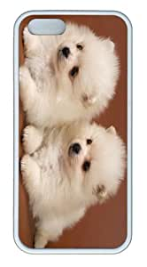 covers underwater Two Adorable Pomeranian Puppies Cute Puppy TPU White Case for iphone 5/5S