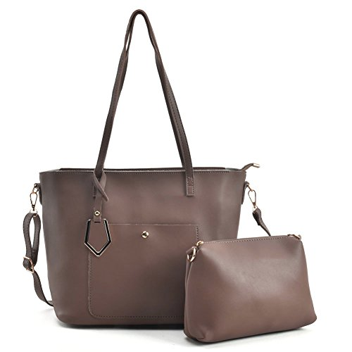 Capacity Purple Ladies Young Women Handle Fashion Top Dark Sally Large vk5408 Satchel For Bags 2 Pieces Pu Leather 6qawBHx