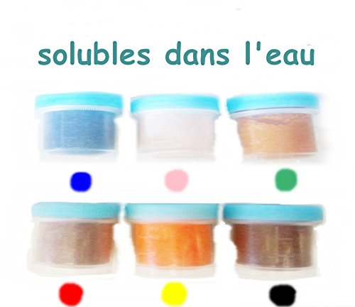colores de alimentos de polvo soluble 6 x 12ml (10g): Amazon.es ...