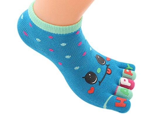 BONAMART ® 1 Pack Kids Girls Boys Split 5 Toes Crew Toe Cartoon Socks 3-5 Years Old