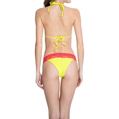 La Sra GAOLIXIA Negro Cruz Roja + Parte Superior Del Bikini De Encaje Con El Triángulo Y La Parte Inferior De Corte Brasileño De 2 Colores B