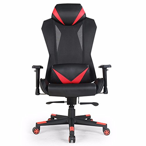Valka Swivel High Back Leather And Mesh Gaming Chair Racing Chair Recliner  By VALKA