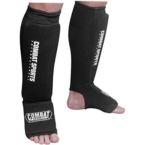Deportes de Combate Lavable Gamuza de MMA Elástico Shin & Instep Acolchada Espinilleras para Muay Thai Kickboxing Formación...