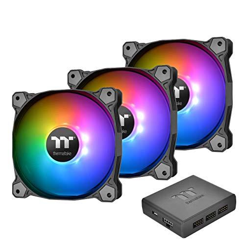 Thermaltake Pure Plus 14 LED RGB Radiator Fan TT Premium Edition - Black (Thermaltake Riing Plus 12 Rgb Tt Premium Edition)