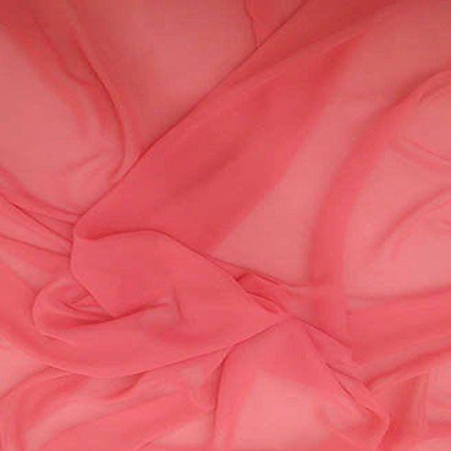 - Coral 9 Chiffon 100% Polyester Lightweight 58-60 Inch Wide JN00099