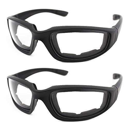 2 PCS Onion Goggles Glasses for Chopper Onion Tearless BBQ Grilling Goggles Tear Free Safety Goggles Dustproof for Cleaning Kitchen Home for Men, Women