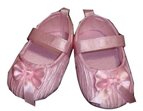4.25 Insole Pink Crinkle Shoes for Baby Girl 6-12 Months
