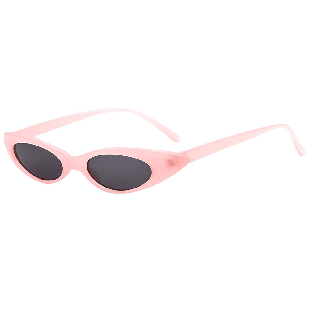 FORUU Glasses Retro Vintage Clout Cat Unisex Sunglasses Rapper Oval Shades Grunge