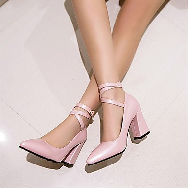 KYDJ @ Mujer-Tacón Robusto-Otro-Tacones-Oficina y Trabajo Informal Fiesta y Noche-PU-Negro Rosa Beige Pink