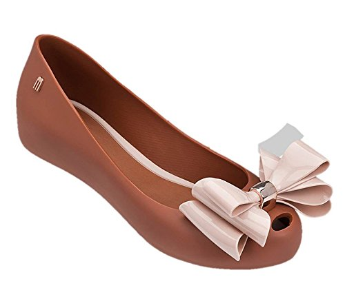 Melissa Womens Ultragirl Sweet Xii Balletto Piatto Marrone Chiaro Rosa