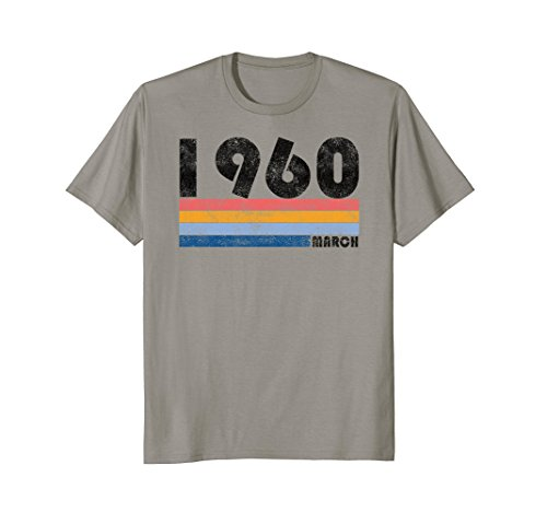 58th Birthday Gift Retro Born in March of 1960 T - Fashion Women 1960