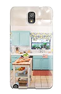 Protective Tpu Case With Fashion Design For Galaxy Note 3 (blue Cabinetry In Cozy Kitchen)