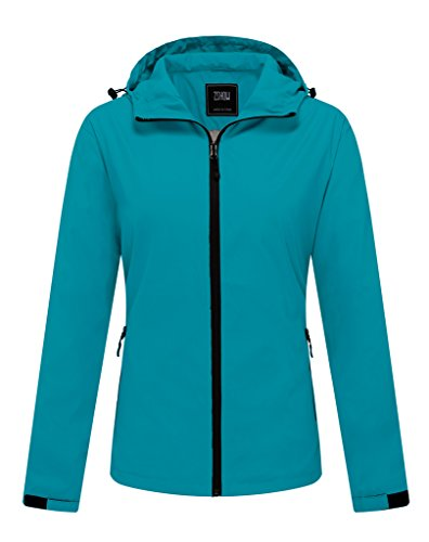 ZSHOW Women's Water and Sand Repellent Running Outdoor Skin Coat Quick Dry Packable Lightweight Jacket With Hood(Acid - Cycling With Jacket Hood
