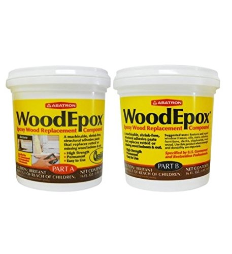 WoodEpox Wood Replacement Compound 2 Pint - Epoxy Wood Stain