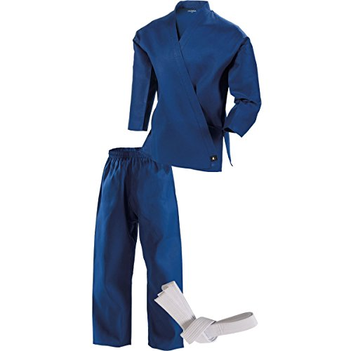 Century Martial Arts Middleweight Student Uniform with Elastic Pant - Blue, 1 - Child 8-10