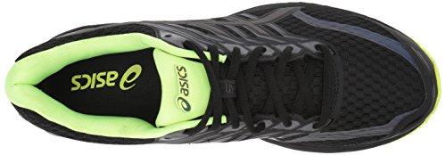 ASICS Mens Gt-2000 5 Lite-Show Running Shoe Black/Safety Yellow/Reflective 8WSAv