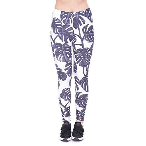 Fliegend Donna Leggings Vita Alta Pantaloni da Yoga con Stampa 3D Elastici Pantaloni Sportivi Push Up Collant Leggins Colore 16