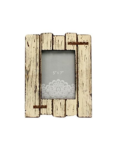 Western Moments Photo Frame Distressed Metal Nail Heads Ivory (Western Frame)