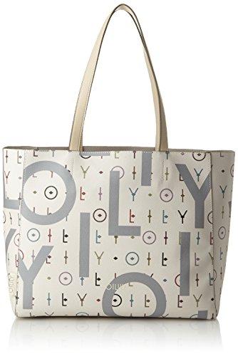 Oilily Jolly Letters Shopper Lhz - Borsa Donna, Bianco (blanc), 14x30x46 Cm (bXHHT)