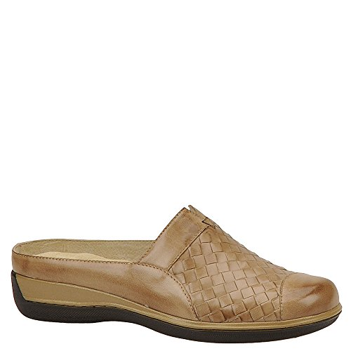 SoftWalk Women's San Marcos Woven Cement Burnished Veg Kid Leather 9 M - Burnished Kid Footwear