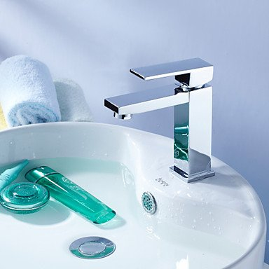 Contemporary Single Lever Tap - Faucet YZL Contemporary Ceramic valve single lever single hole chrome Centerset bathroom sink