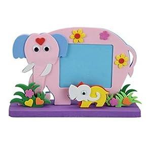立體動物相框 兒童diy創意手工粘貼相框畫 diy手工寶寶相框 大象1520