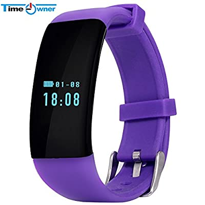 TimeOwner D21 Sport Bluetooth Smart Band Wrist Bracelet for iPhone Android Phone IP66 Waterproof for Swimming Heart Rate Pedometer Sedentary Reminder Sleeping Monitor NFC Fitness Trackers