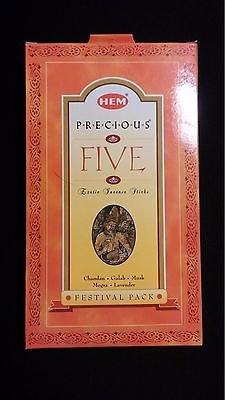 Precious Incense Mogra (PRECIOUS FIVE Chandan Mogra Gulab Musk 100 HEM Incense Sticks Boxed Gift Set)