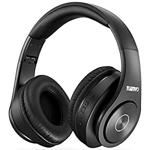 Bluetooth Headphones Wireless,Tuinyo Over Ear Stereo Wireless Headset 35H Playtime with deep bass, Soft Memory-Protein…