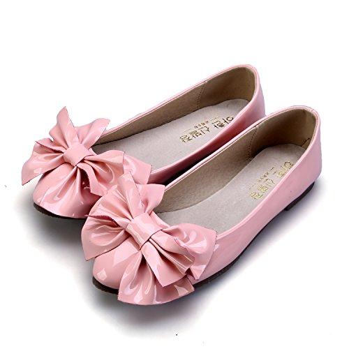 Lackleder Bowknot Ballett Glänzende Smilun Ballett Frauen Flache Pink Flaches Große Ballerina CxqwFwAz