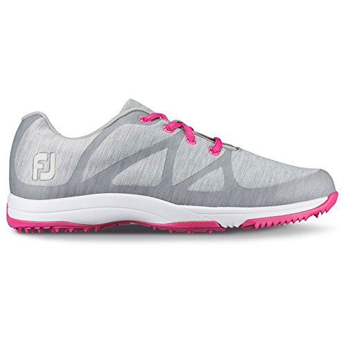 FootJoy Women's Leisure Golf Shoes (12, Grey/Pink-M)